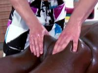 Interracial stud massage