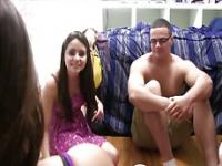 Hot and sexy coeds in an ass dorm party where they get randomly fuck