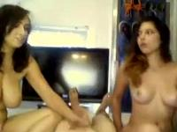 Two Best Friends Sharing Lucky Amateur Dick