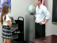 Uniform teen spunk faced