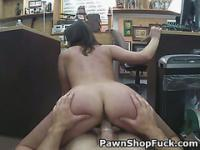 Brunette Amateur Getting Drilled On Desk In Pawn Shop