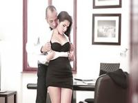 Horny slut secretary Valentina Nappi getting fucked by dude at the office