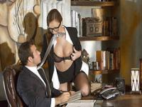 Hot secretary Maddy OReilly gets a lusty ride for her boss bigcock.