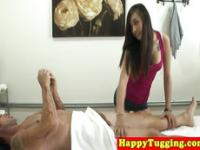 Real asian masseuse fucks client