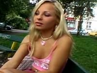 Gorgeous Blonde Getting Fingered On Public Bench