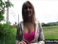 Amateur Czech girl Lana nailed for money