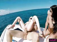 Besties boat party turns into group sex