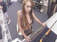 Latina milf on nude photoshoot gets fucked at the pawnshop