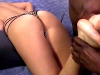 Interracial footjob slut