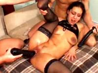 Horny slut fisted and fucked with monster toys