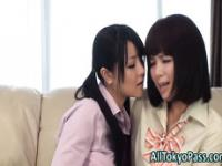 Lesbo asian babes kiss