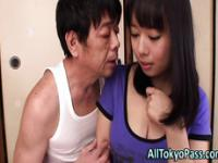 Asian slut gets creampied