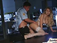Natalia fucks the hot security guard
