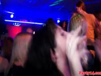 Real euroteen party babes get tits jizzed on