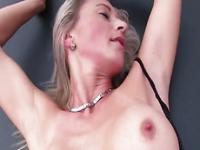 Sexy Blondie Cougar gets her nice tits Sucked inside the car