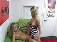 Dyke hazed college teens licking pussy
