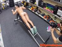 Ebony amateur nude and working out for cash