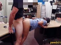 Babe in need of money fucked by pawn man