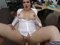 Busty business lady fucked by pawnkeeper