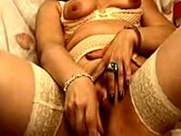 Blonde Italian Milf Gina Plays And Cums