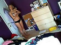 Cute Girl Nude At Her Bedroom