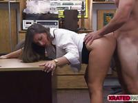 Busty Blonde woman gets pawned hardcore style