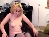 Sexy Blond Wife Dancing And Strip