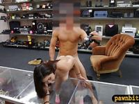 College girl sells pussy at the pawnshop