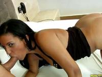 This hot Brazilian girl loves getting nailed hard in every juicy hole.