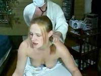 Doctor examines her pussy