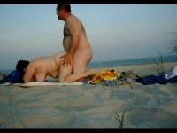 Private doggy style sex on the beach