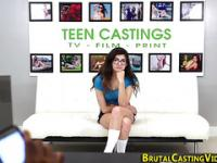 Rough banged teen spunked