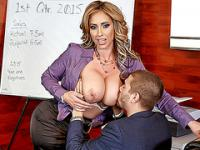 Big tits boss Eva Notty fucked and facialed by her employee