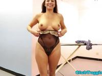 Cougar stepmom tugging a young cock pov