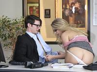 American blonde babe Staci Carr hardly fuck in the office