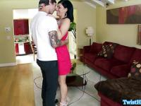 Cheating Belle Noire banged and facialed