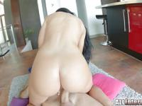 All Internal April Blue gushes cum out of her pussy up close