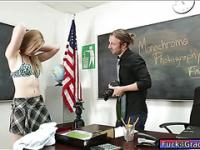 Teen Alexa Grace fucked in the classroom