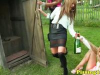 Peefetish party sluts fuck dude outdoors