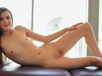 Teen Alex Mae have an erotic massage filmed in POV with 3D sound