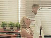 Sexy office babe seduces her boss