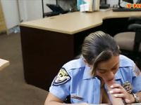 Police officer fucked at the pawnshop