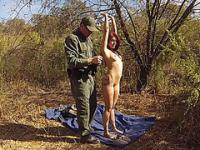 Hot young girl caught by border patrol n fucked in mexican desert