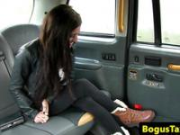 Busty tattoo taxi amateur sucking cabbie