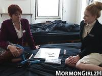 Lezzie mormon strapon sex