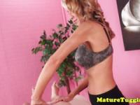Mature masseuse tugging a client pov style