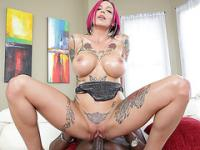 Redhead deepthroater Anna gets destroyed by Lexington Steele