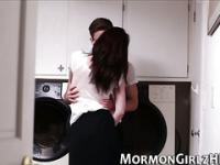 Mormon babe gets creamed