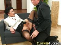 Glam Euro Dame slutty