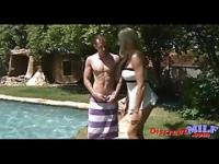 Stepmom fucking by the pool